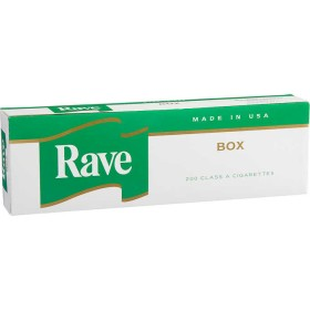 Rave Menthol Dark Green Kings Box