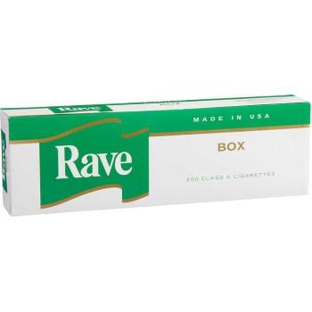 Rave Menthol Dark Green Kings Box