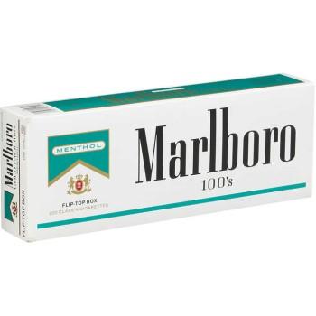 Marlboro Menthol 100s Gold Pack Box