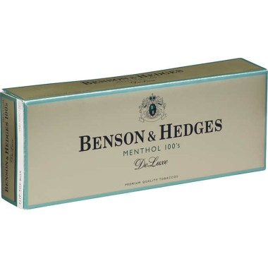 Benson & Hedges Menthol 100s DeLuxe Box