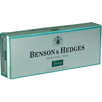 Benson & Hedges Menthol 100s Luxury Soft Pack