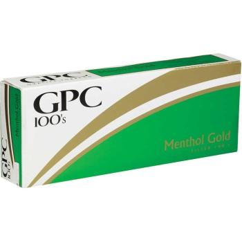 GPC Menthol Gold 100s Soft Pack