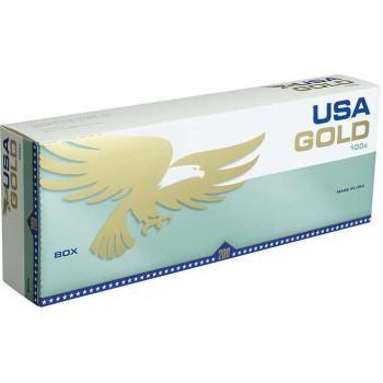 USA Gold Menthol Green 100s Box