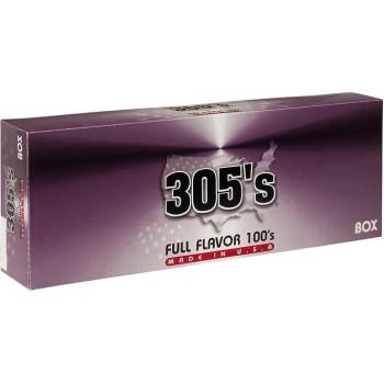 305's Full Flavor 100s Box