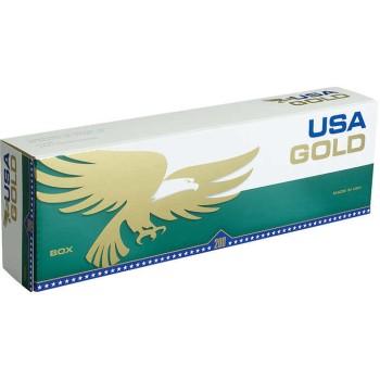 USA Gold Menthol Dark Green Box