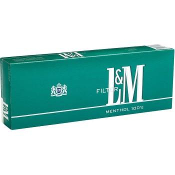 L&M Menthol 100s Box