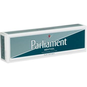 Parliament Menthol Silver Pack Box
