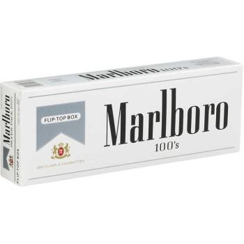 Marlboro 100s Silver Pack Box