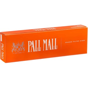 Pall Mall Orange Filter Kings Box