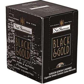 Nat Sherman Black & Gold Box