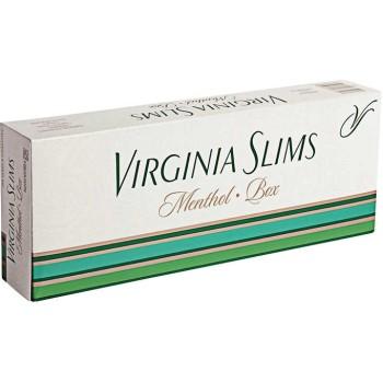 Virginia Slims Menthol 100s Box