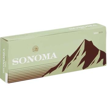 Sonoma Green 100s Menthol Box
