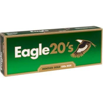 Eagle 20s Menthol Gold 100s Box