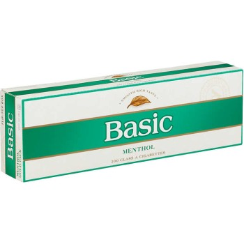 Basic Menthol Gold Pack Box