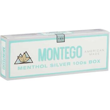 Montego Menthol Silver 100s Box