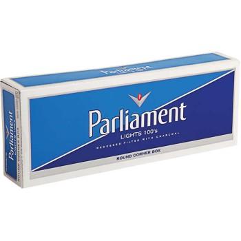 Parliament Lights 100s White Pack Box