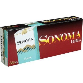 Sonoma Menthol Green 100s Soft Pack
