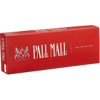 Pall Mall Red 100s Box