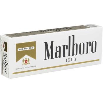 Marlboro 100s Gold Pack Box