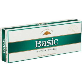 Basic Menthol 100s Gold Pack Box