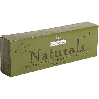 Nat Sherman Naturals Menthol Kings Box