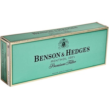 Benson & Hedges Menthol 100s Box
