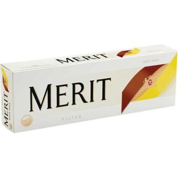 Merit 100s Gold Pack Soft Pack
