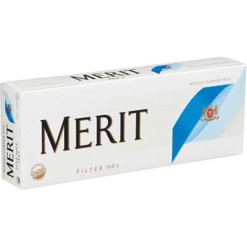 Merit 100s Blue Pack Box