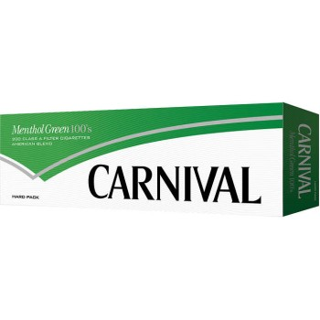 Carnival Menthol Green 100s Box