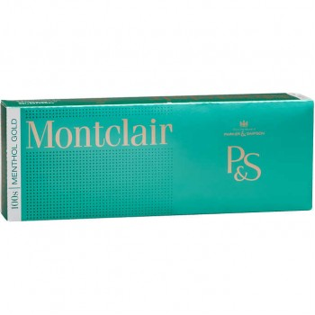 Montclair Menthol Gold 100s Box