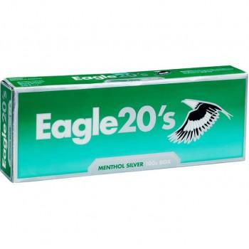 Eagle 20s Menthol Silver 100s Box