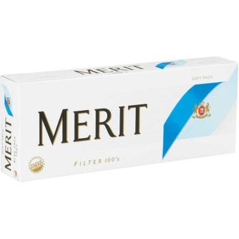 Merit 100s Blue Pack Soft Pack