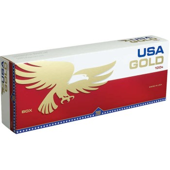USA Gold Red 100s Box