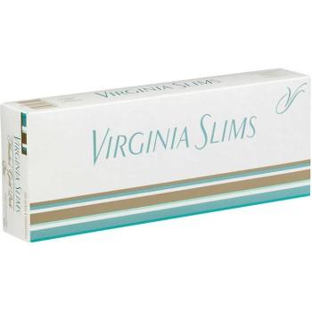 Virginia Slims Menthol Gold Pack Box